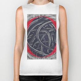 Junction- red graphic Biker Tank