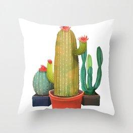 New Pocket Cactus Throw Pillow