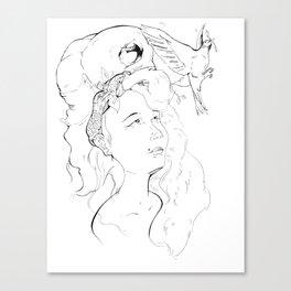 Bird Nest  Canvas Print