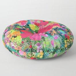 colorful floral composition Floor Pillow