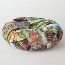 Impression of the Provence in France Floor Pillow