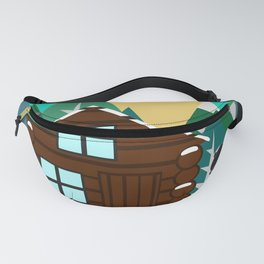Winter cabin in the woods Fanny Pack