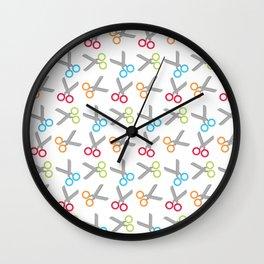 Bright Scissors Wall Clock