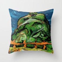 Mysterious Hill Throw Pillow