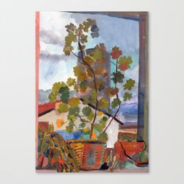 Window, Selfoss, Iceland Canvas Print