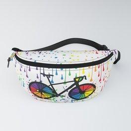 Rainbow raindrops Fanny Pack