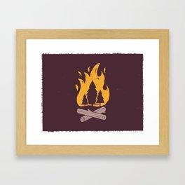 Campfire Night Framed Art Print