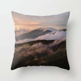 Clearing Storm, Craggy Gardens along Blue Ridge Parkway Throw Pillow