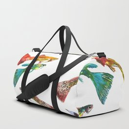 Tropical Colors, Guppy Aquarium Fish , Aquarium Art Underwater Duffle Bag