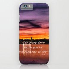 Sun dusk over Boston College Slim Case iPhone 6s