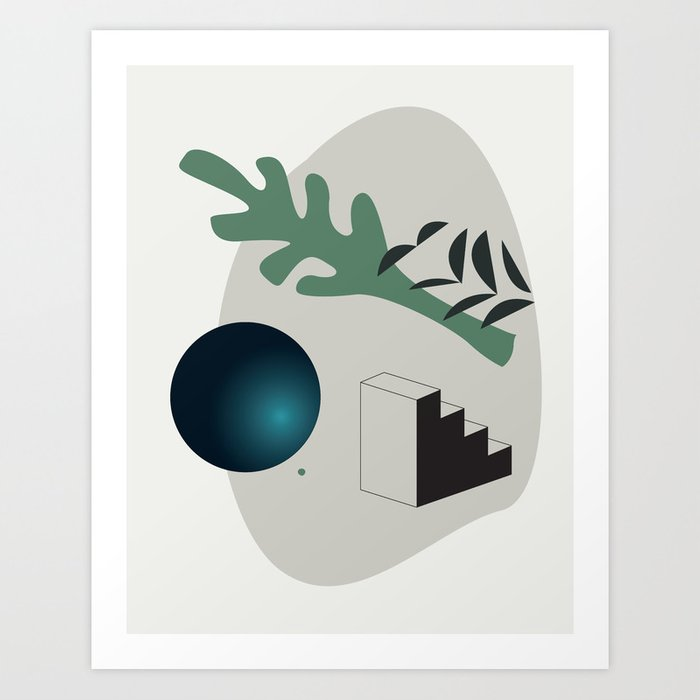 Shape study #7 - Synthesis Collection Art Print