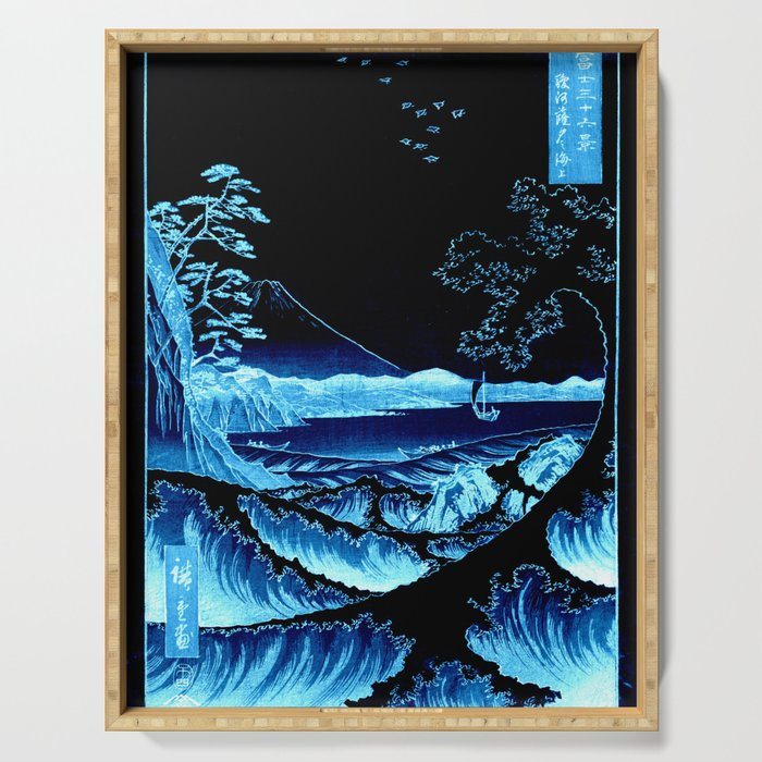 The Sea at Satta : Blue Serving Tray