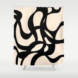 The Journey - Neutral Black Shower Curtain