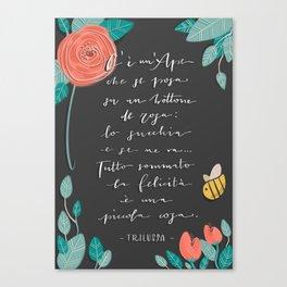 La Felicità - Trilussa Canvas Print