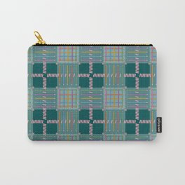 Plaid Pencil Crayon Pattern With Erasers Carry-All Pouch