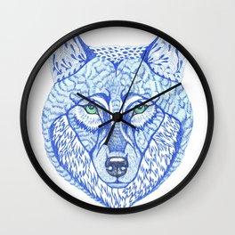 ice wolf Wall Clock