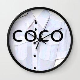 coco fashion week look Wall Clock
