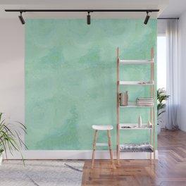 Blue Gray Cotton Fluff Wall Mural