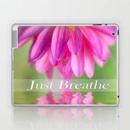 Just Breathe Pink Dahlia Laptop & iPad Skin