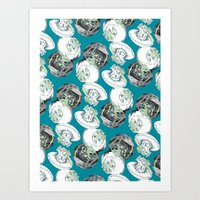 jelly fish Art Prints featuring Jelly Fish by Eleanor V R Smith
