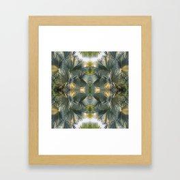 Leafy gray Framed Art Print