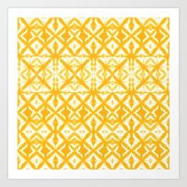 Breeze Block Shibori Yellow Art Print