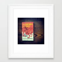 catcher in the rye Framed Art Prints featuring The Catcher In The Rye by Anano