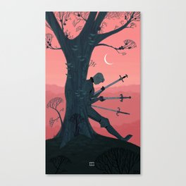 3 of Swords Canvas Print