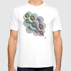 the L vomit MEDIUM White Mens Fitted Tee
