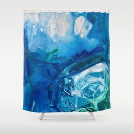 Deep Blue Ocean Life Shower Curtain