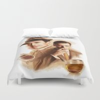 mad men Duvet Covers featuring MAD MEN DON DRAPER by TOXIC RETRO