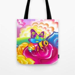 1997 Neon Rainbow Beelzebub Tote Bag