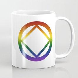Narcotics Anonymous Rainbow Pride Symbol Coffee Mug