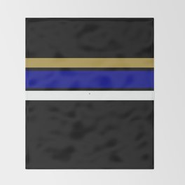 TEAM COLORS 2...blue  and gold Throw Blanket