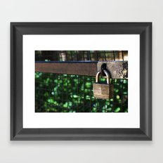 ~Lock Your Love Up and Throw Away the Key~ Framed Art Print