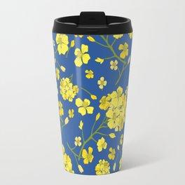 Floral Love of Mustard Travel Mug