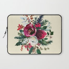Christmas Winter Floral Bouquet No Text Laptop Sleeve
