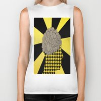 brain Biker Tanks featuring Brain by Art By Carob