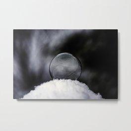 Daybreak Light on Snowy Day Metal Print