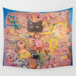 Pink Nightmare Wall Tapestry