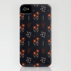 Red Flowers Slim Case iPhone (4, 4s)