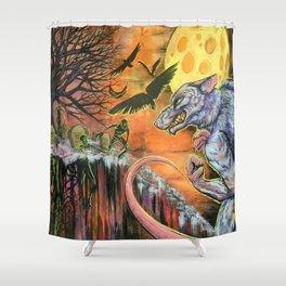 The Dread Were-Rat Shower Curtain