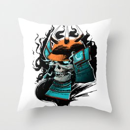 Fear the Oni Throw Pillow
