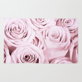 Pink Roses Flowers - Rose and flower pattern Rug