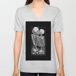 The Lovers Skull Kiss Unisex V-Neck