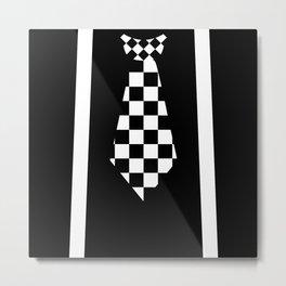 Ska Music Checkerboard Tie Outfit Metal Print