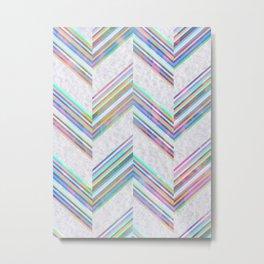 Lilli Chevron {light} Metal Print