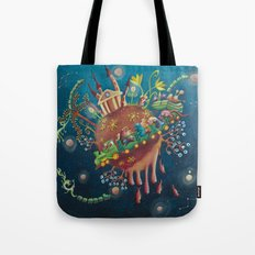 the intergalactic train Tote Bag