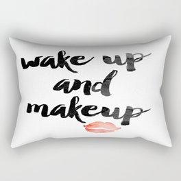 Wake Up and Makeup Rectangular Pillow