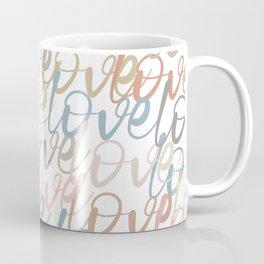 Love, Quote, Happy, Pattern Coffee Mug